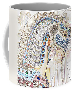 Carousel Stallion Coffee Mug by Lilliana Mendez