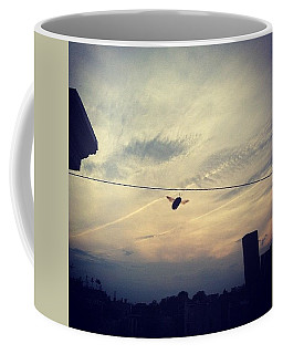 Carpenter Bees Abound On The Deck Coffee Mug by Katie Cupcakes
