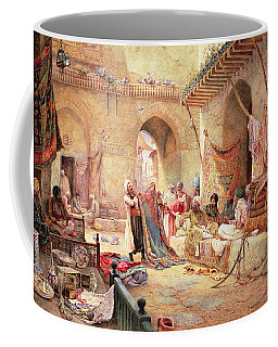 Carpet Bazaar, Cairo, 1887 Coffee Mug
