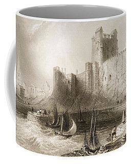 Carrickfergus Castle, County Antrim, Northern Ireland, From Scenery And Antiquities Of Ireland Coffee Mug