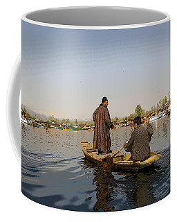 Cartoon - Kashmiri Men Plying A Wooden Boat In The Dal Lake In Srinagar Coffee Mug