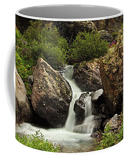 Coffee Mug featuring the photograph Cascade In Lower Ice Lake Basin by Alan Vance Ley