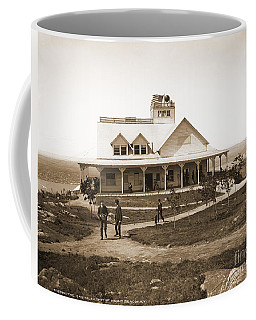 Casino At The Top Of Mt Beacon In Black And White Coffee Mug