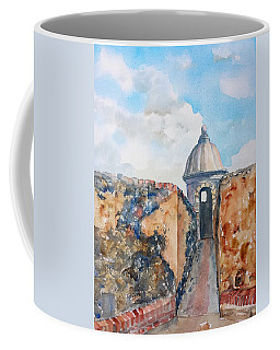 Castillo De San Cristobal Sentry Door Coffee Mug