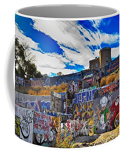 Austin Castle And Graffiti Hill Coffee Mug