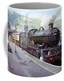 Castle At Kingswear 1957 Coffee Mug