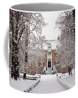 Coffee Mug featuring the photograph Castle In Winter Dress  by Annie Snel