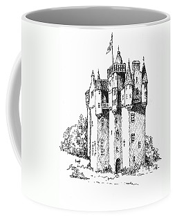 Coffee Mug featuring the drawing Castle by Sam Sidders