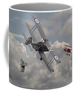 Cat Among The Pigeons Coffee Mug by Pat Speirs