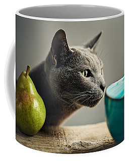 Cat And Pears Coffee Mug