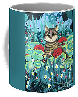 Cat Hiding In The Rainforest Coffee Mug