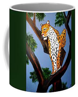 Cat On A Hot Wood Tree Coffee Mug