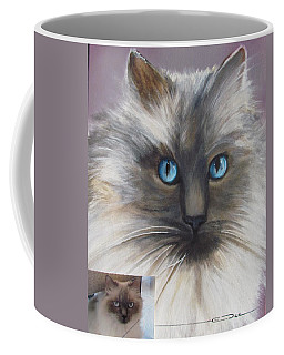 Coffee Mug featuring the painting Cat Portraiture 1  by Eric Dee
