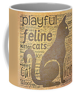Cat Typography Coffee Mug