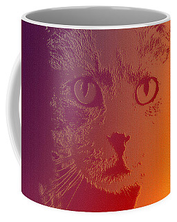 Coffee Mug featuring the photograph Cat With Intense Stare Abstract  by Denise Beverly