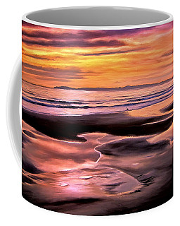 Coffee Mug featuring the painting Catalina Sunset by Michael Pickett