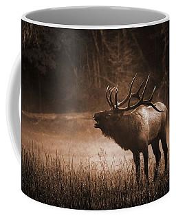 Cataloochee Bull Elk In Sepia Coffee Mug