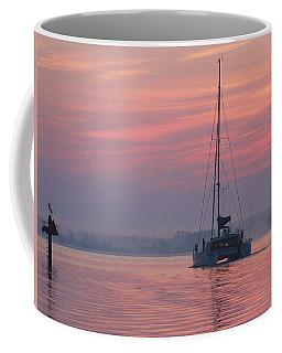 Catamaran At Dawn Coffee Mug