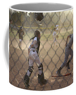 Catcher In Action Coffee Mug by Chris Thomas
