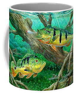 Catching Peacock Bass - Pavon Coffee Mug