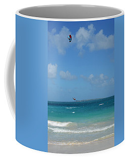Catching Some Air At Orient Beach In Saint Martin Coffee Mug