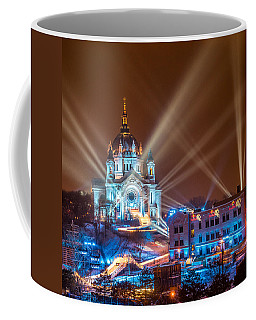 Cathedral Of St Paul Ready For Red Bull Crashed Ice Coffee Mug by Paul Freidlund
