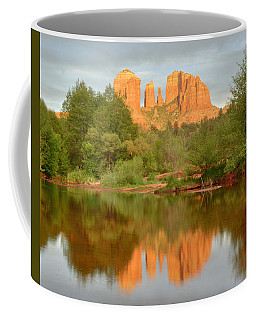 Coffee Mug featuring the photograph Cathedral Rocks Reflection by Alan Vance Ley