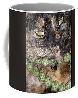 Coffee Mug featuring the photograph Cat's Fashion Day by Oksana Semenchenko