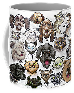 Coffee Mug featuring the digital art Cats N Dogs by Kevin Middleton