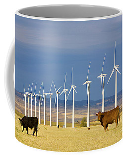 Cattle And Windmills In Alberta Canada Coffee Mug