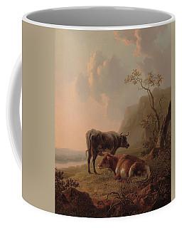 Cattle In An Italianate Landscape Coffee Mug
