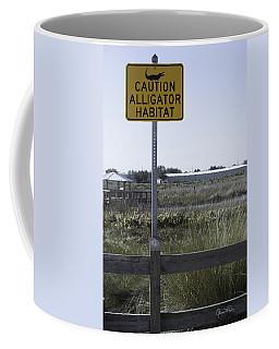 Caution Alligator Habitat Coffee Mug