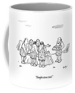 Cavemen Perform Surgery On Another Caveman Coffee Mug