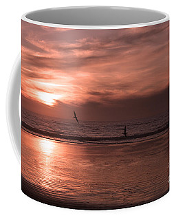 Cayucos Beach With Seagulls Coffee Mug