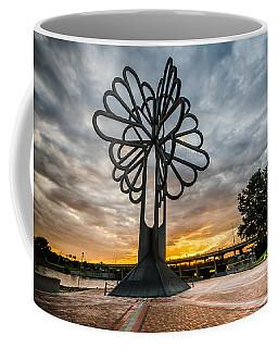 Cedar Rapids Five Seasons Tree At Sunset Coffee Mug
