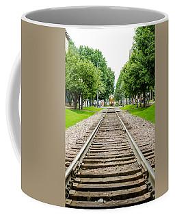 Cedar Rapids Train Coming Down The Tracks Coffee Mug