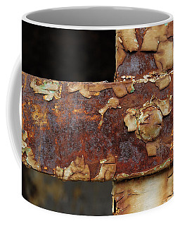 Coffee Mug featuring the photograph Cell Strapping by Fran Riley