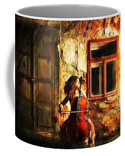 Cellist By Night Coffee Mug
