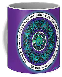 Celtic Butterfly Mandala Coffee Mug