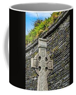 Celtic Cross At Kilmurry-ibrickan Church Coffee Mug