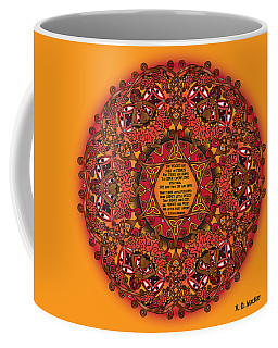 Celtic Fall Fairy Mandala Coffee Mug