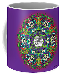 Celtic Spring Fairy Mandala Coffee Mug