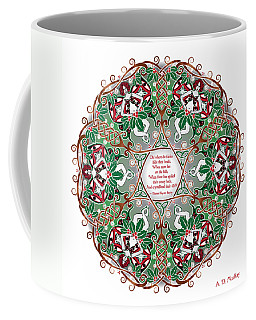 Celtic Winter Fairy Mandala Coffee Mug