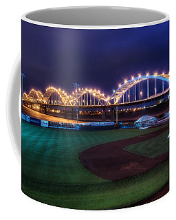 Centennial Bridge And Modern Woodmen Park Coffee Mug