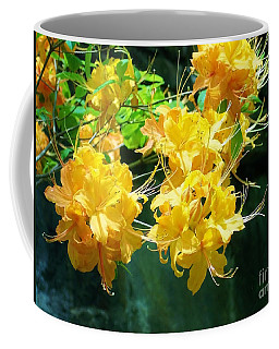 Centered Yellow Floral Coffee Mug