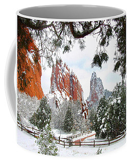 Central Garden Of The Gods After A Fresh Snowfall Coffee Mug