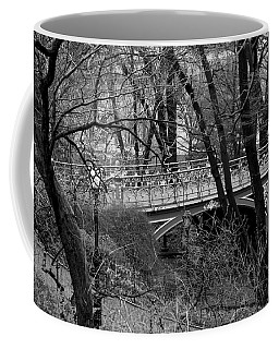 Central Park 2 Black And White Coffee Mug by Chris Thomas