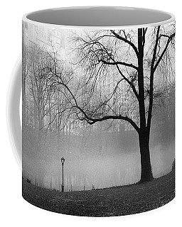 Coffee Mug featuring the photograph Central Park Fog by Dave Beckerman