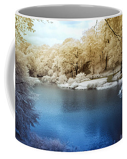 Central Park Lake Infrared Coffee Mug