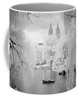 Central Park Lake-infrared Willows Coffee Mug by Dave Beckerman